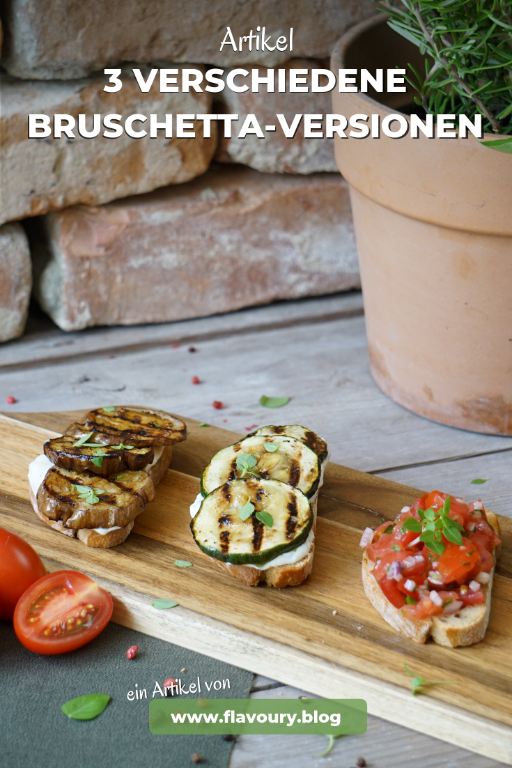 Pin Artiekl 3 Bruschetta-Versionen