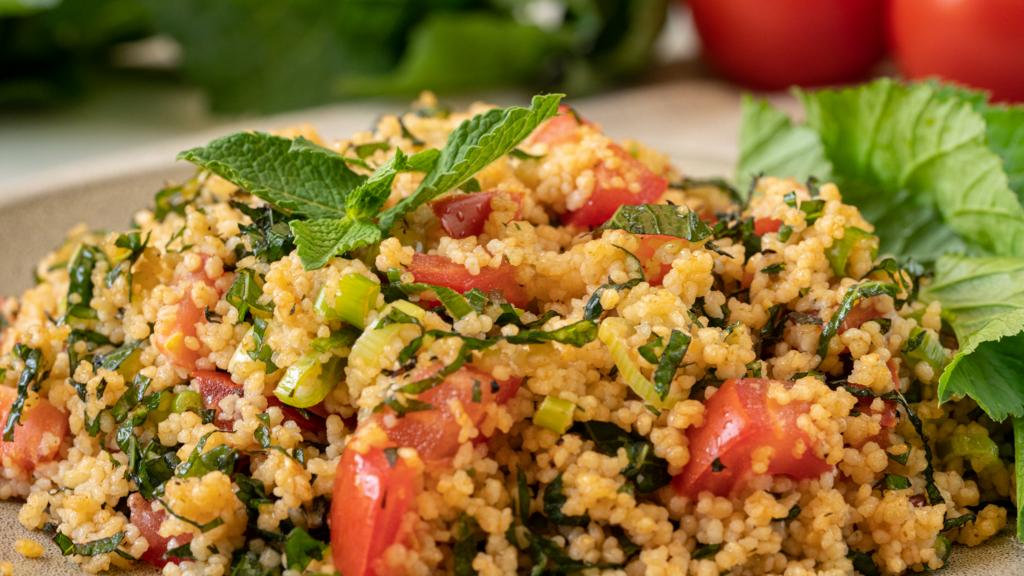 Rezept für einen Couscous Salat mit Giersch