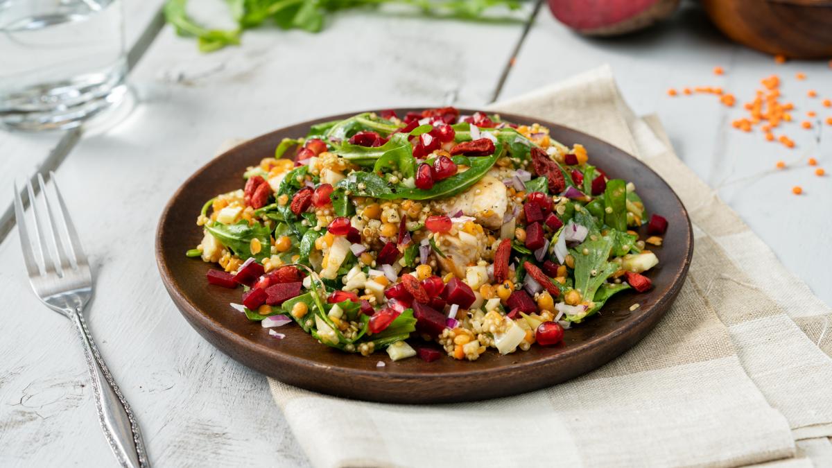 <b>Rezept:</b> Quinoa-Salat mit Fenchel