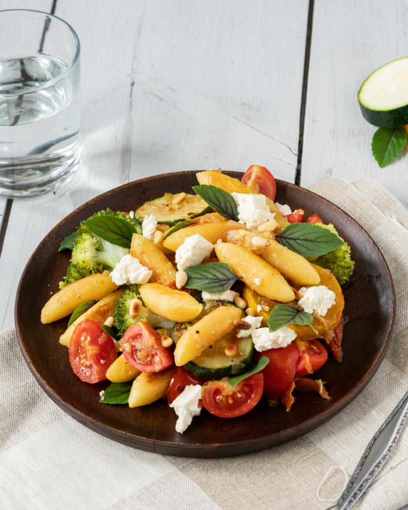 Rezept für Zucchini-Pfanne mit Schupfnudeln